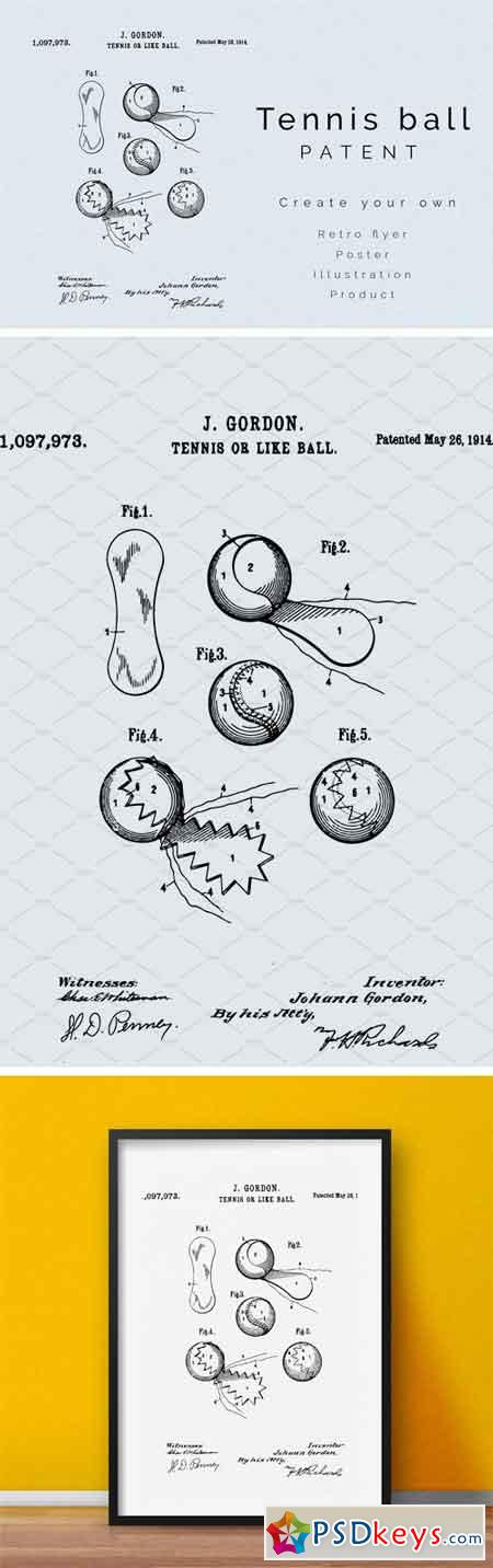 Tennis Ball Patent 1659769