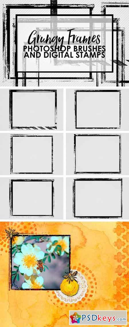 Grungy Frames Brushes 1683067