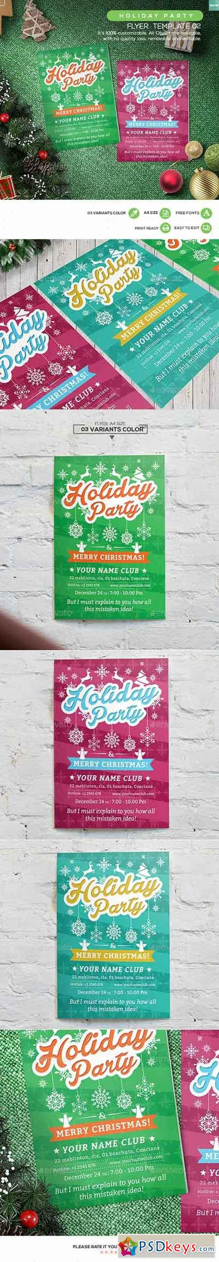 holiday party flyers free templates