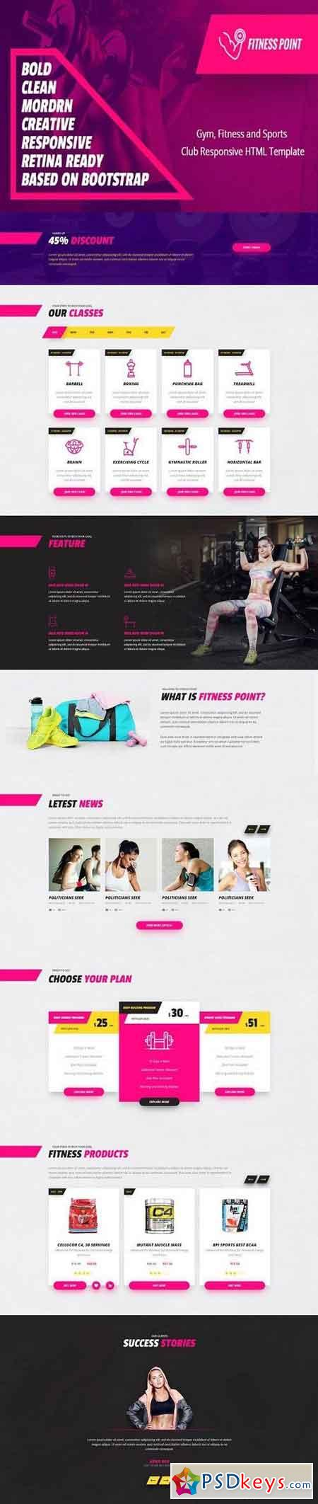 Fitness point - HTML Template 1337326