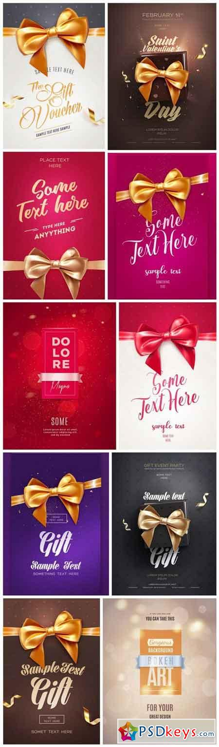 Festive Flyer With Ribbon - 8 Vector