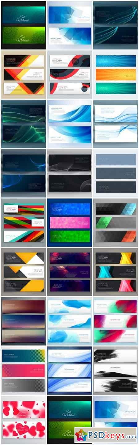 Abstract Banners Collection #136 - 25 Vectors