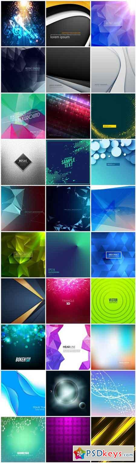 Abstract Background Collection #215 - 30 Vector
