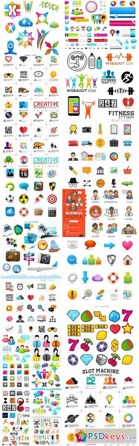 Icons Collection #146 - 25 Vector