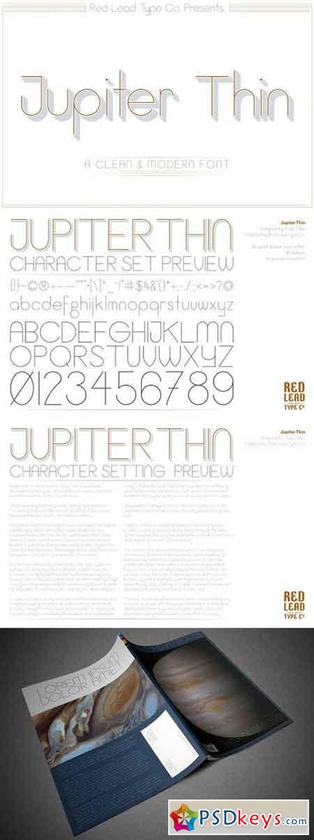 Jupiter Thin Sans Serif Font 1644231