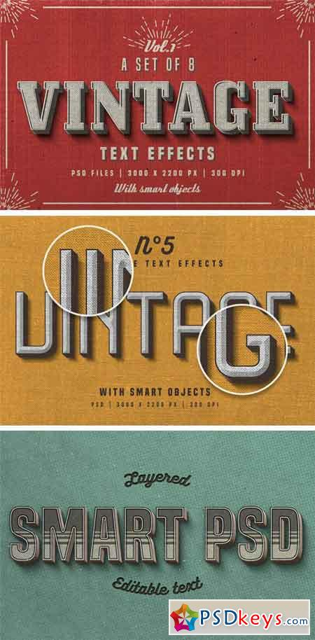 Vintage Photoshop Text Effects 1680352 » Free Download