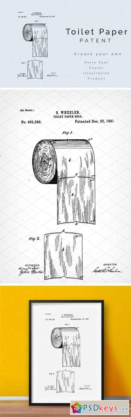 Toilet Paper Roll Patent 1659713
