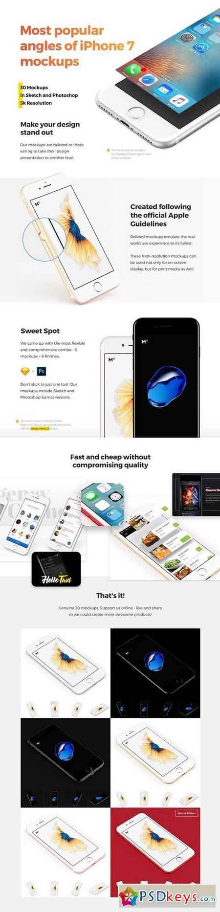 Most Popular iPhone 7 Mockups 1417012