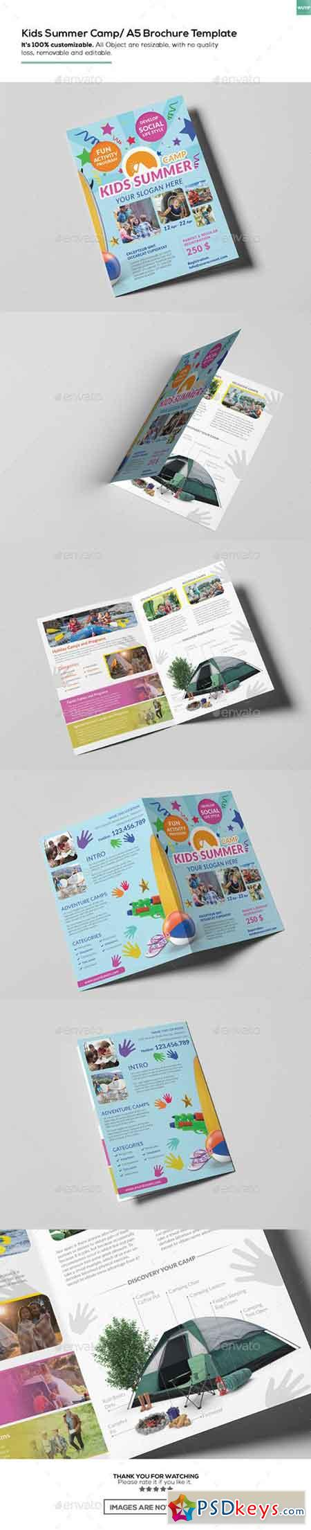 Kids Summer Camp A Brochure Template Free Download - A5 brochure template