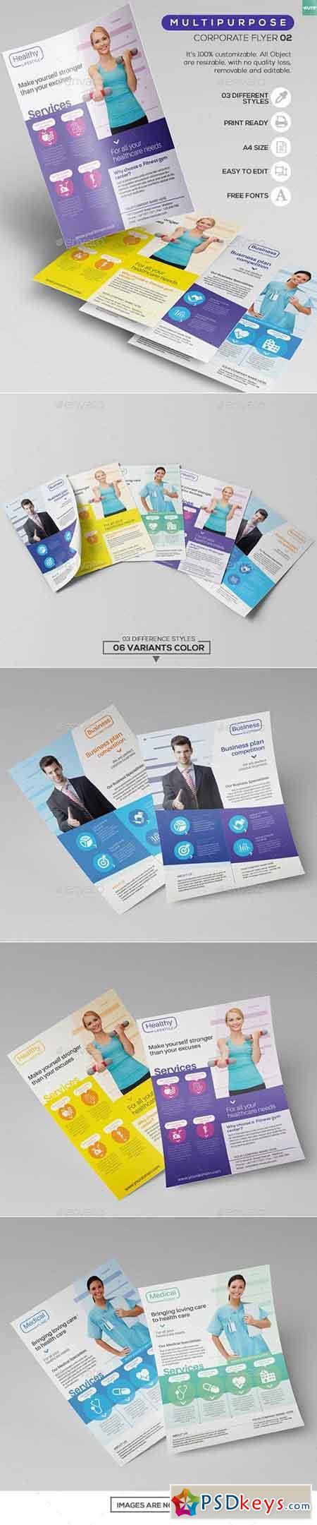 Multipurpose Corporate - Flyer Template 02 13308650
