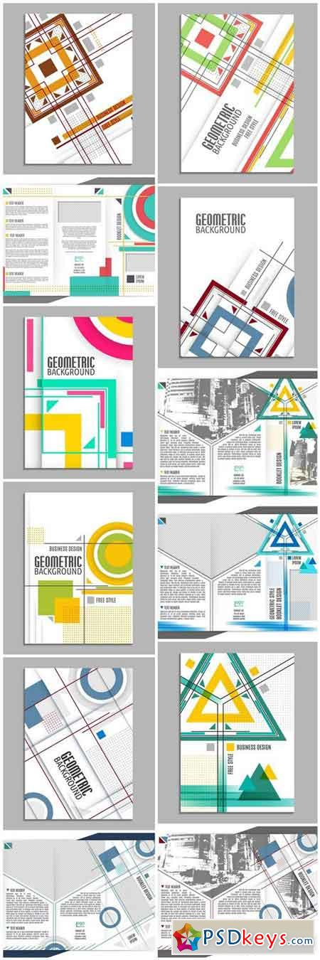 Abstract Geometric Brochure - 12 Vector