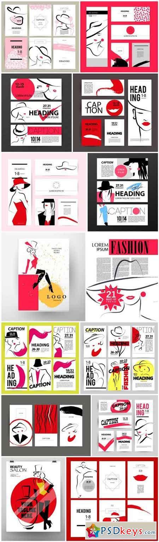 Cards Beauty Salon - 14 Vector