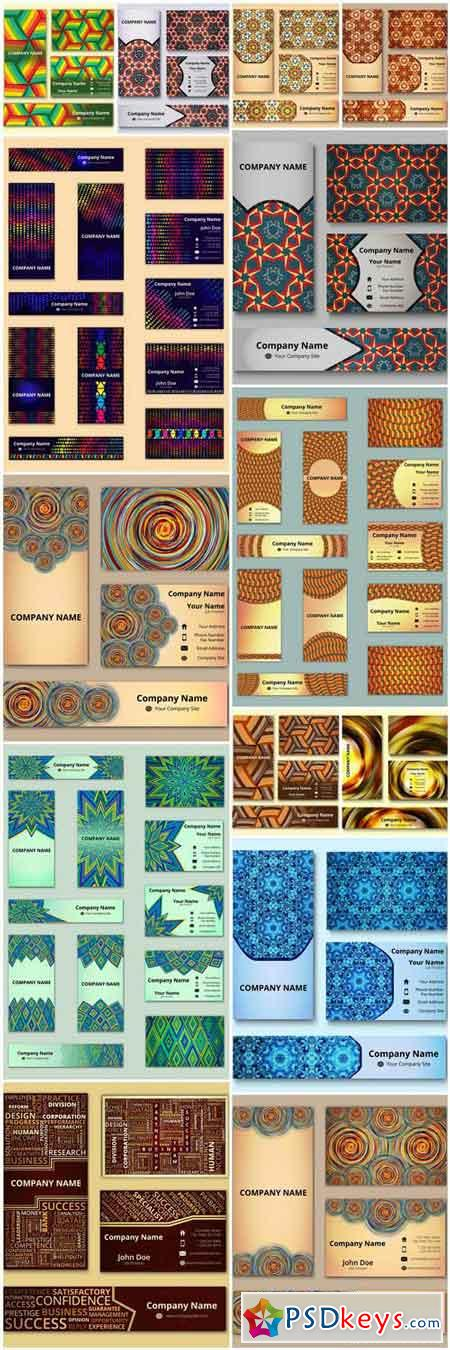 Abstract Ornament Card And Banners - 14 Vector