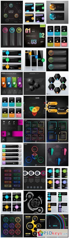 Infographics Design Elements #283 - 30 Vector