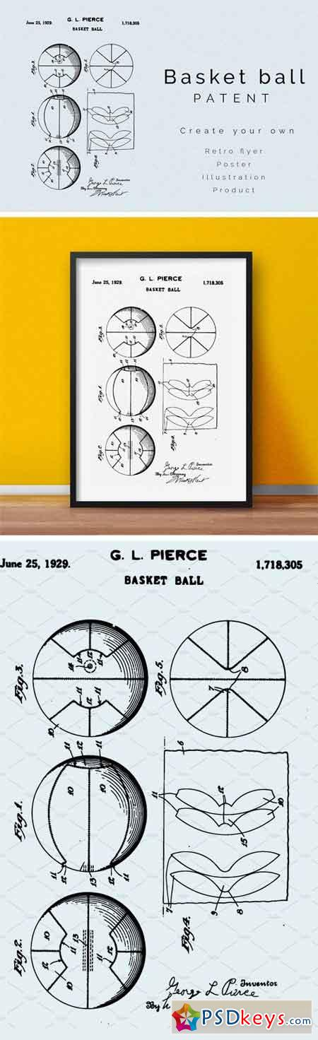 Basket Ball Patent 1659777