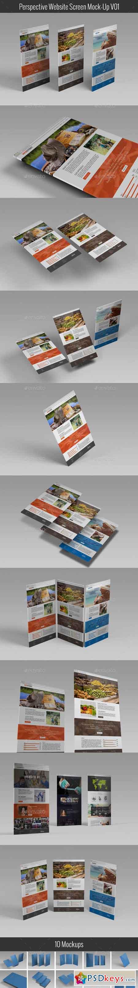 Perspective Website Screen Mock-Up V01 20355399