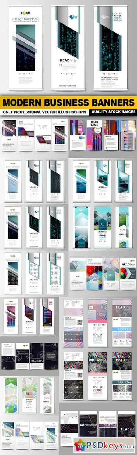Modern Business Banners - 15 Vector