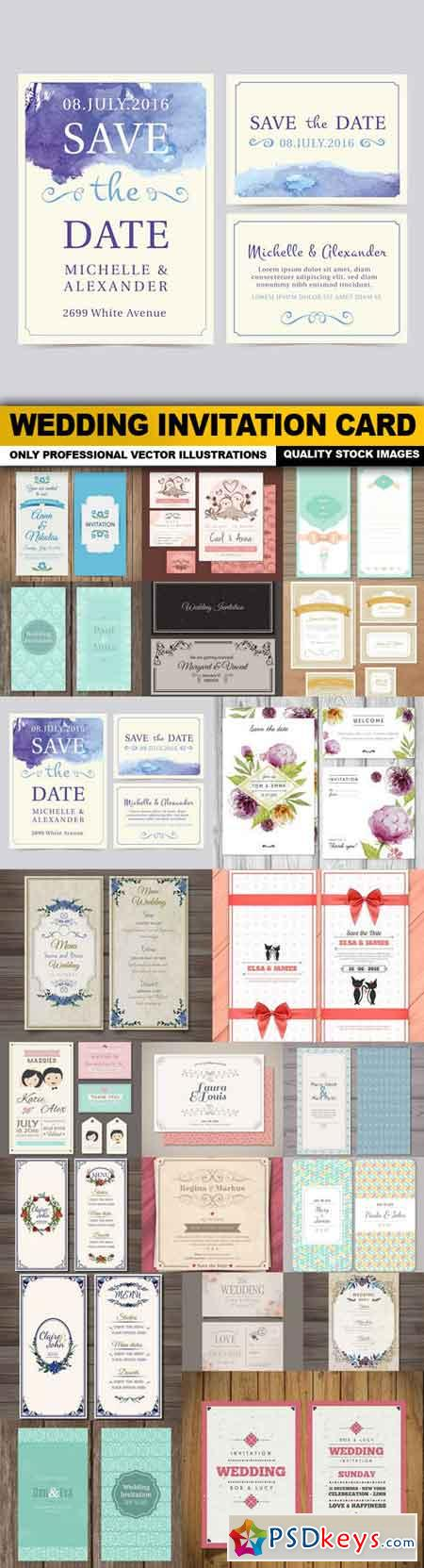 Wedding Invitation Card - 22 Vector