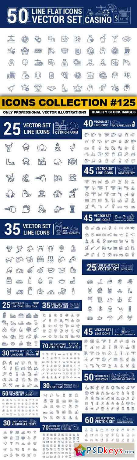 Icons Collection #125 - 17 Vector