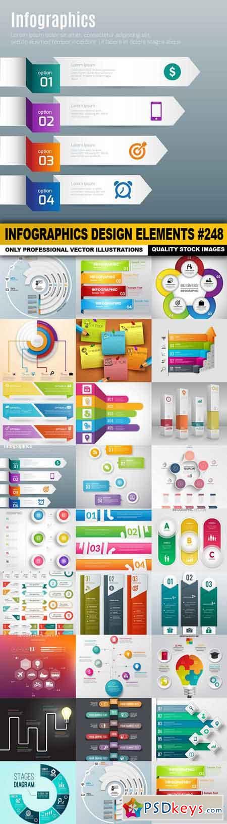 Infographics Design Elements #248 - 25 Vector