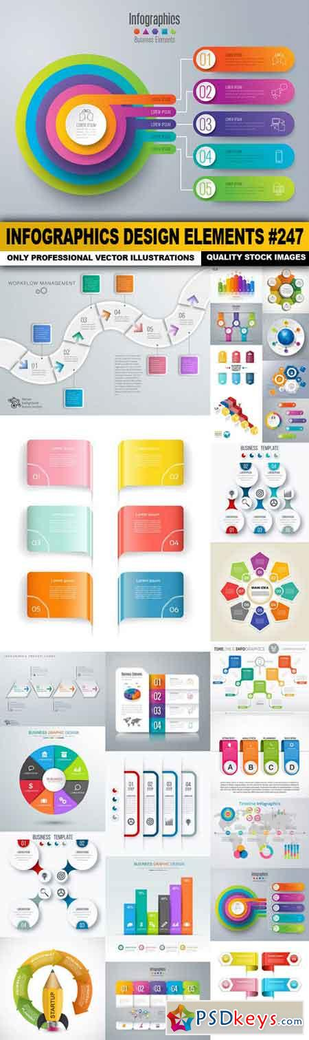 Infographics Design Elements #247 - 25 Vector