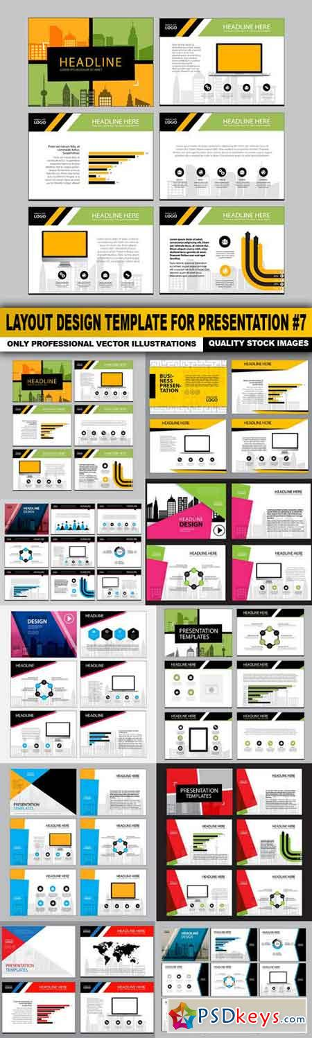 Layout Design Template For Presentation #7 - 10 Vector