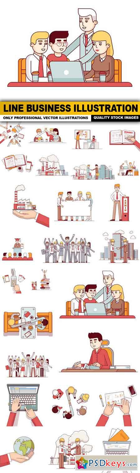 Line Business Illustration - 26 Vector