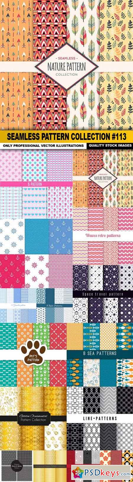 Seamless Pattern Collection #113 - 15 Vector