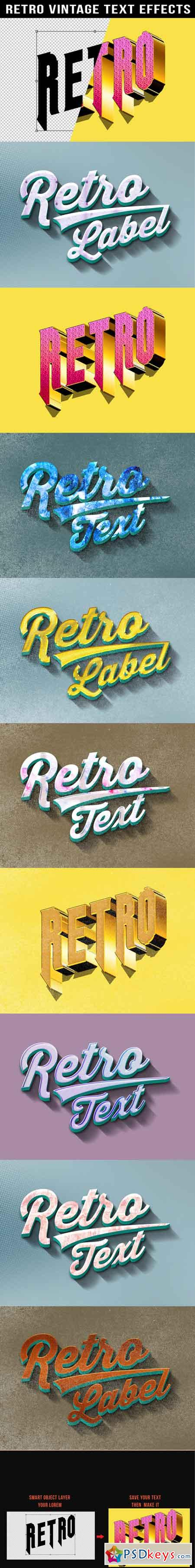 Retro Vintage Text Effects 20087801