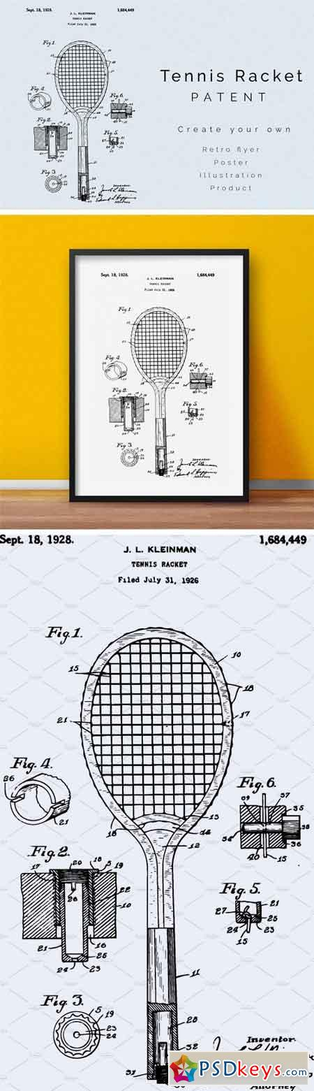Tennis Racket Patent 1659748