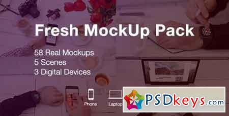 Fresh Mockup Pack Phone, Laptop, Watch Devices 19983797 - After Effects Projects