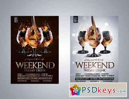 Luxury Weekend Drink Flyer