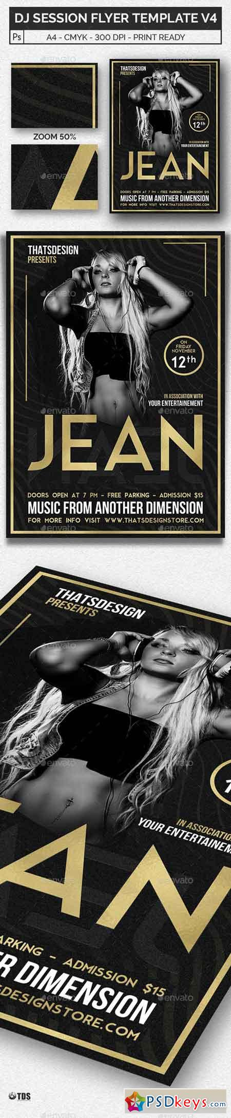 DJ Session Flyer Template V4 20416889