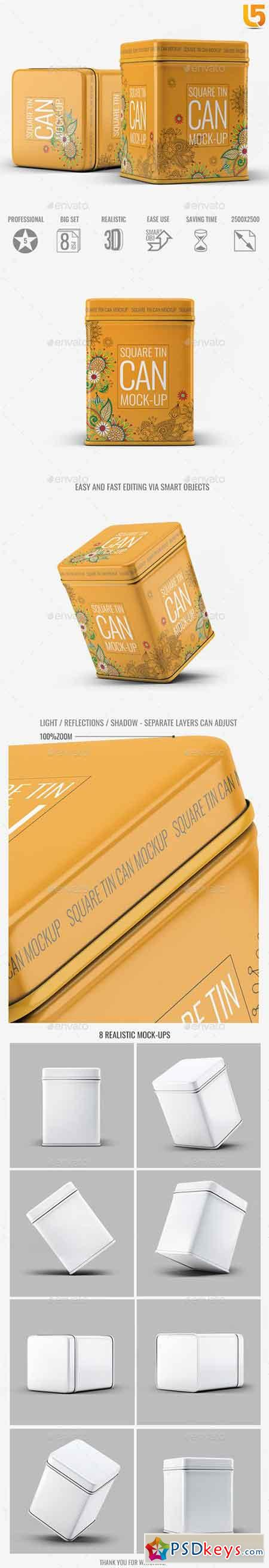 Square Tin Can Mock-Up 20413173