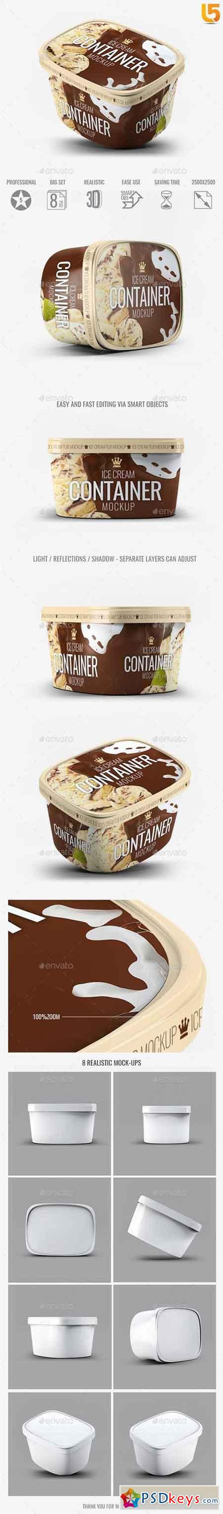 Ice Cream Container Mock-Up 20413057