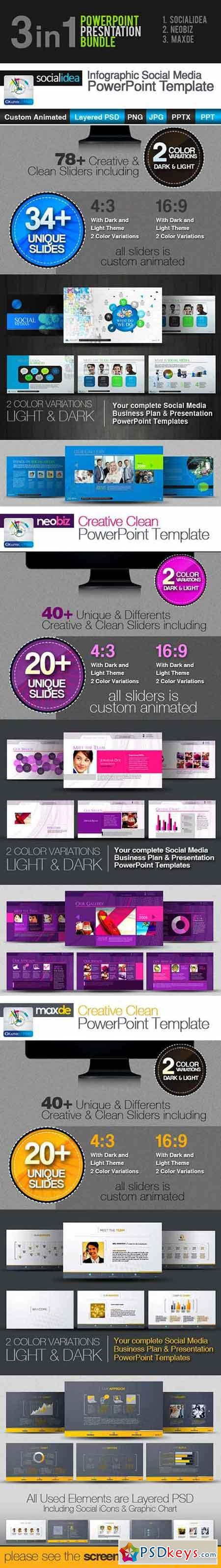3in1 PowerPoint Templates Bundle 3657386