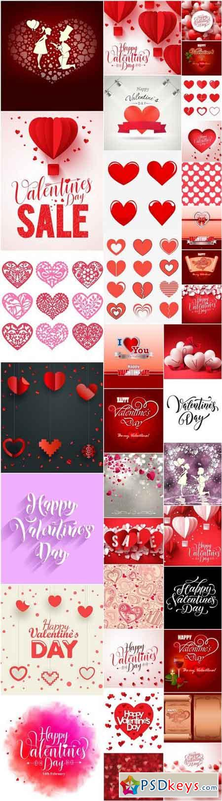 Happy Valentines Day Background #15 - 60 Vector