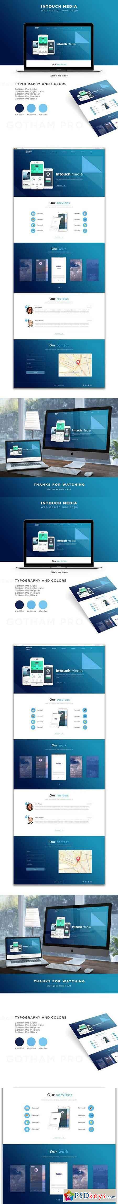 Intouch Media - Landing Page (PSD) 1644420
