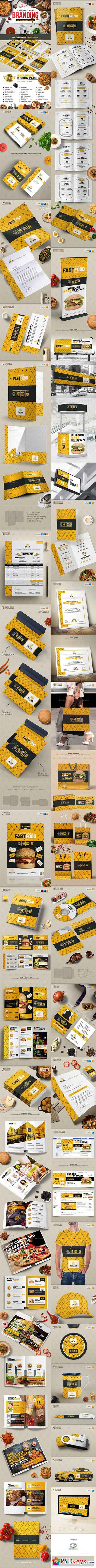 Branding Identity for Fast Food Restaurants Cafe 20193465