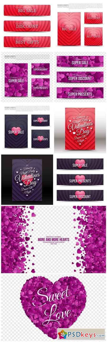 Valentine Day Banners And Card - 10 Vector