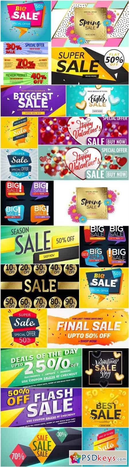 Promotional Sale Sanner Set #15 - 25 Vector
