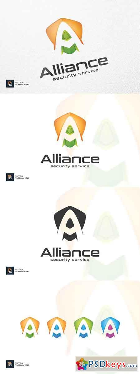 Alliance Shield - Logo Template » Free Download Photoshop Vector ...