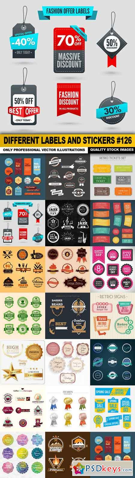 Different Labels And Stickers #126 - 20 Vector