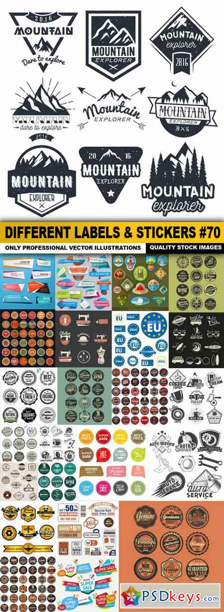 Different Labels & Stickers #70 - 25 Vector