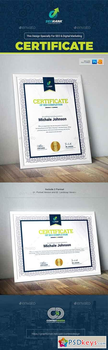 Certificate of Completion for SEO & Digital Marketing Agency Company 19957782
