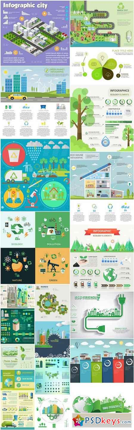 Ecology Concept Infographics - 20 Vector