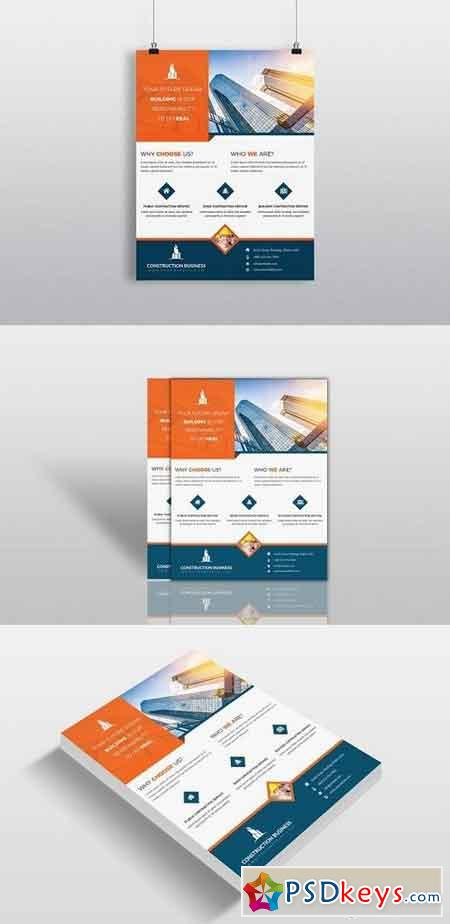 Construction Business Flyer Template 1318231