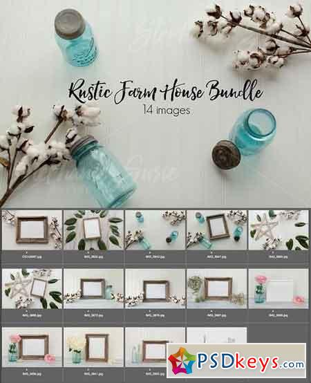 Rustic Farm House Mock Up Bundle 1308996