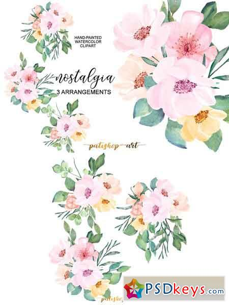 Blush & Pink Wild Rose Clip Art 1720519