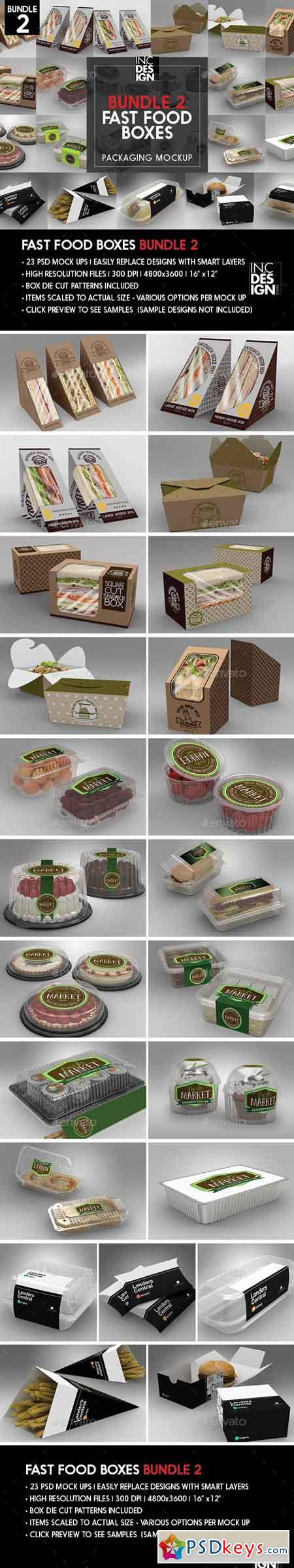 Fast Food Boxes Mock Up Bundle 2 20288036